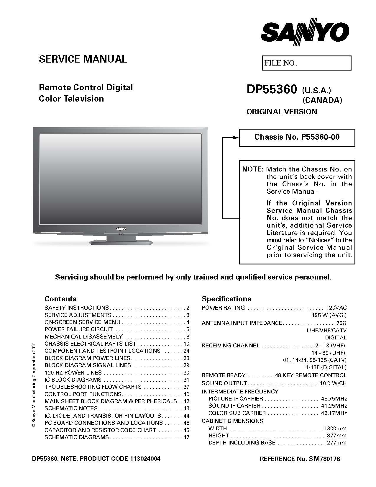 Sanyo Tv Wiring Diagram - Circuit Diagram Symbols •