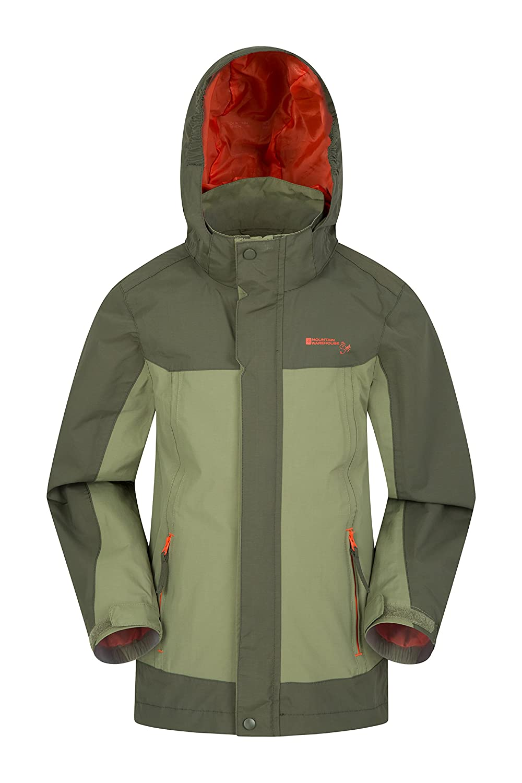 Mountain Warehouse Mojave Kids Jacket - Waterproof Spring Rain Coat