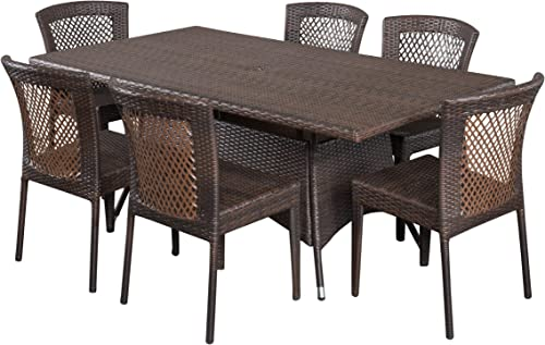 Christopher Knight Home Rafael Outdoor Wicker Dining Set