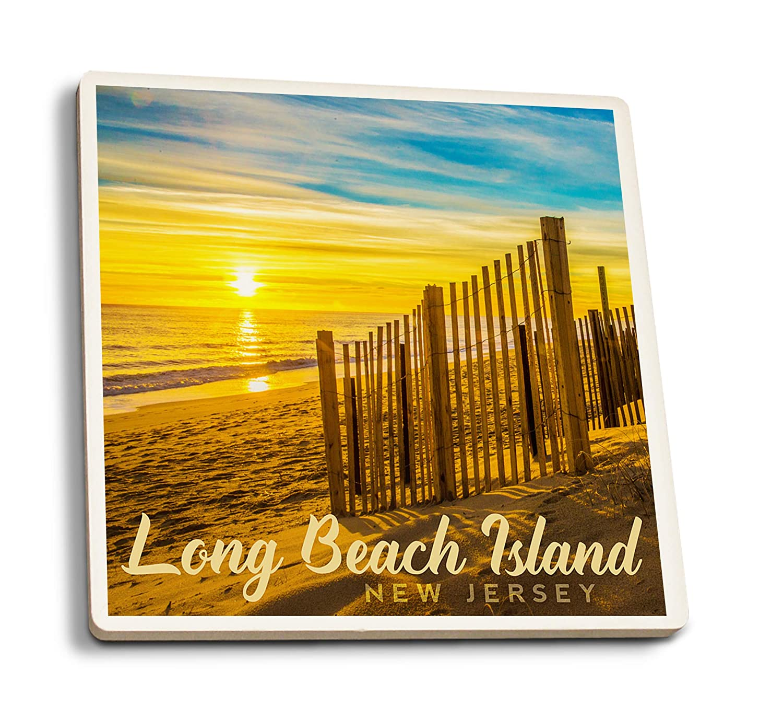 ロングビーチ島 ニュージャージー サンドデューンズアットドーン 4 Coaster Set LANT-87684-CT 4 Coaster Set  B07K5G9T52