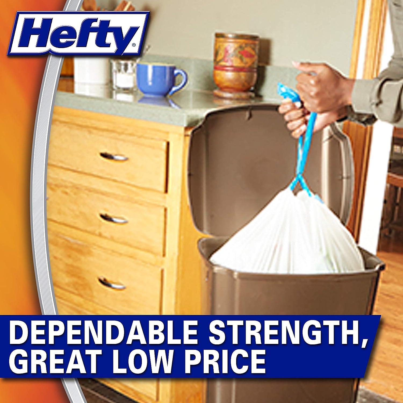 Hefty Strong Trash//Garbage Bags Kitchen Drawstring