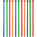 Soodhalter Stir Stix Sparkle, 25 Retro Glitter Swizzle Sticks, 4 Color Assortment, 6 Inch Beverage Stirrers