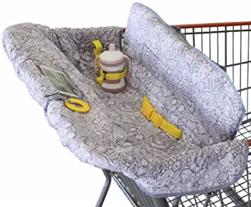 Shopping Cart Cover For Baby Or Toddler | 2 In 1 High Chair Cover