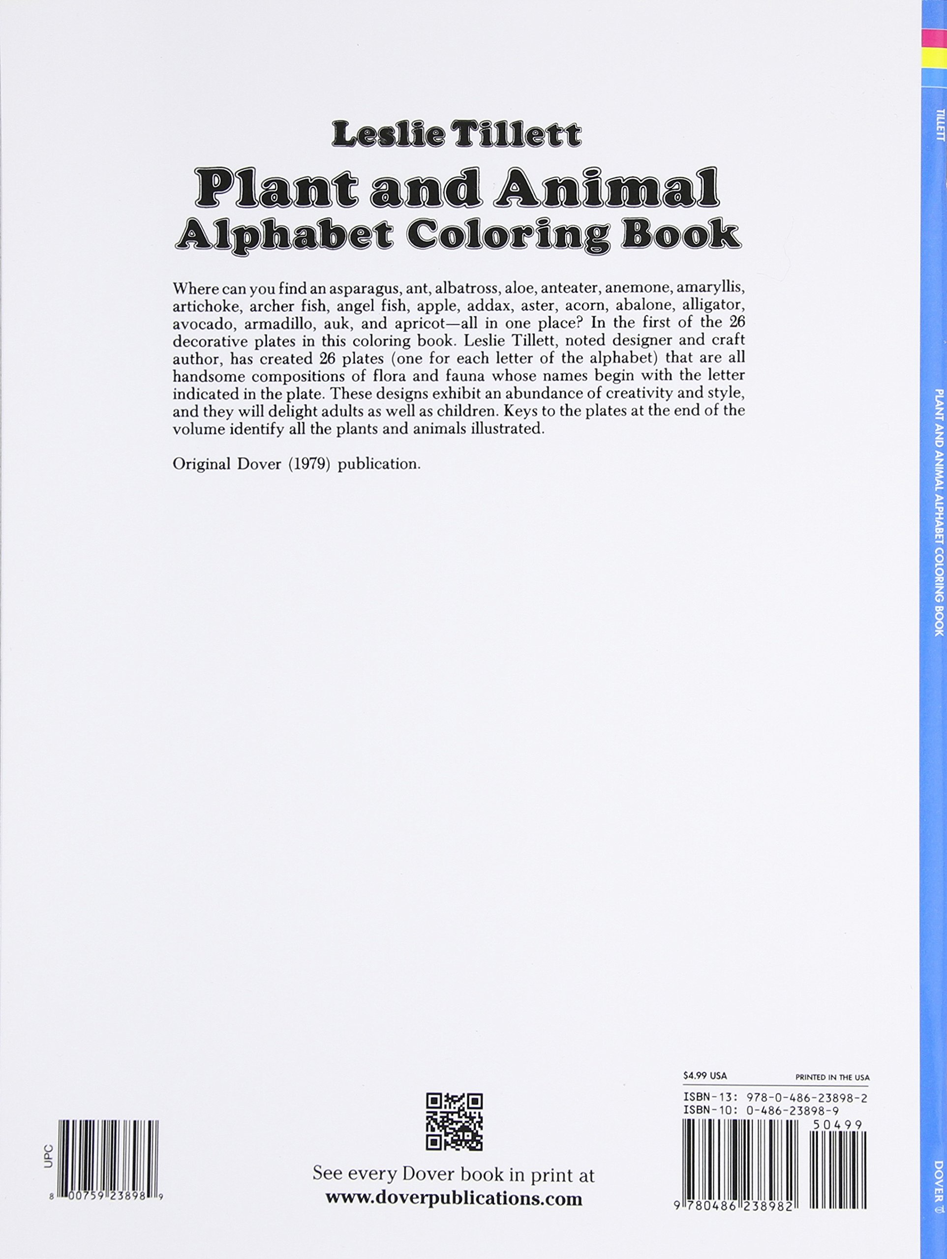 Plant and Animal Alphabet Coloring Book (Dover Coloring Books ...