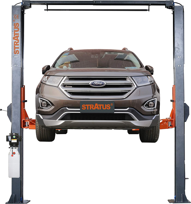 STRATUS Asymmetric Clear Floor Overhead 10,000 lbs Capacity Car Lift