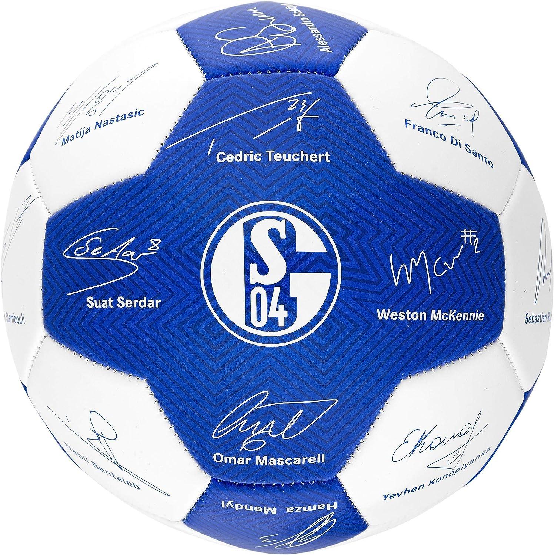 FC Schalke 04 - Pelota de fútbol para firmas, 18/19, Color Azul ...