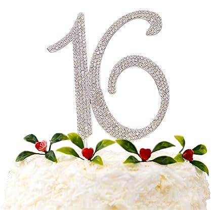 Amazon LOVENJOY With Gift Box Crystal Rhinestone Sweet 16 Cake
