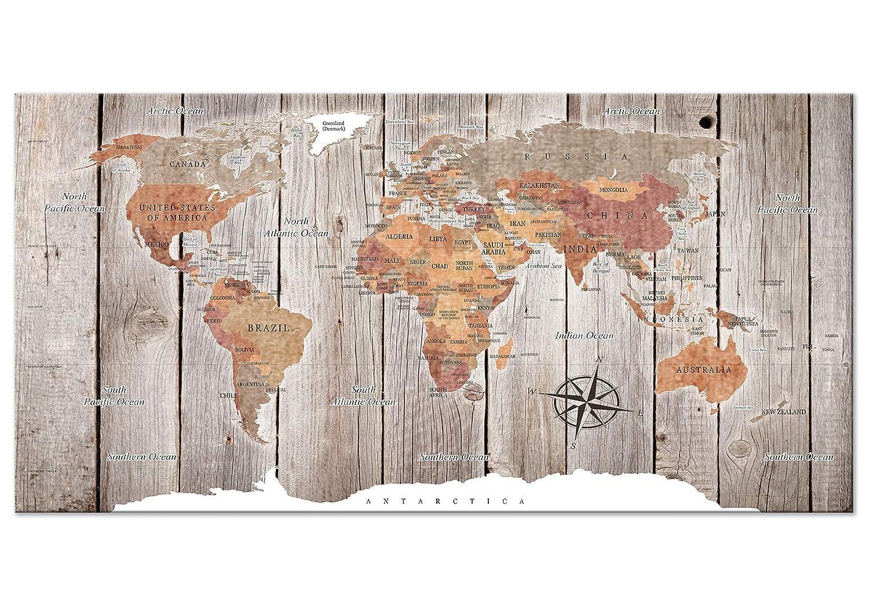 Murando cm - Weltkarte Pinnwand 90x60 cm Murando Bilder mit Kork Rückwand 1 Teilig Vlies Leinwandbild Korktafel Fertig Aufgespannt Wandbilder XXL Kunstdrucke Landkarte k-C-0050-p-d bfe6d1