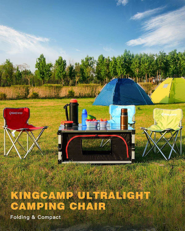 KingCamp Small Lightweight Aluminum Portable Folding Camping Chair