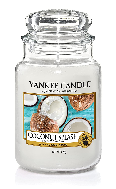 Yankee Candle Bougie Jarre «Eau de Noix de Coco», Blanche, 10,7 x 10,7 x 16,8cm 1577807EZ