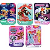 5 Collectible Puzzles Tins for Girls Ages 5+ 6+ Disney Princess Shimmer and Shine Elena Avalor PowerPuff Girls Puppy Patrol My Little Pony Gift Set Bundle
