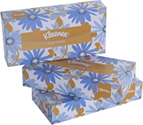 Kleenex Facial Tissue Box, 100 Sheets per Box, 2 Ply, 3 Box Combo, 60035 by Kimberly-Clark