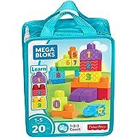 Mega Builders 123 Count, Multi Color
