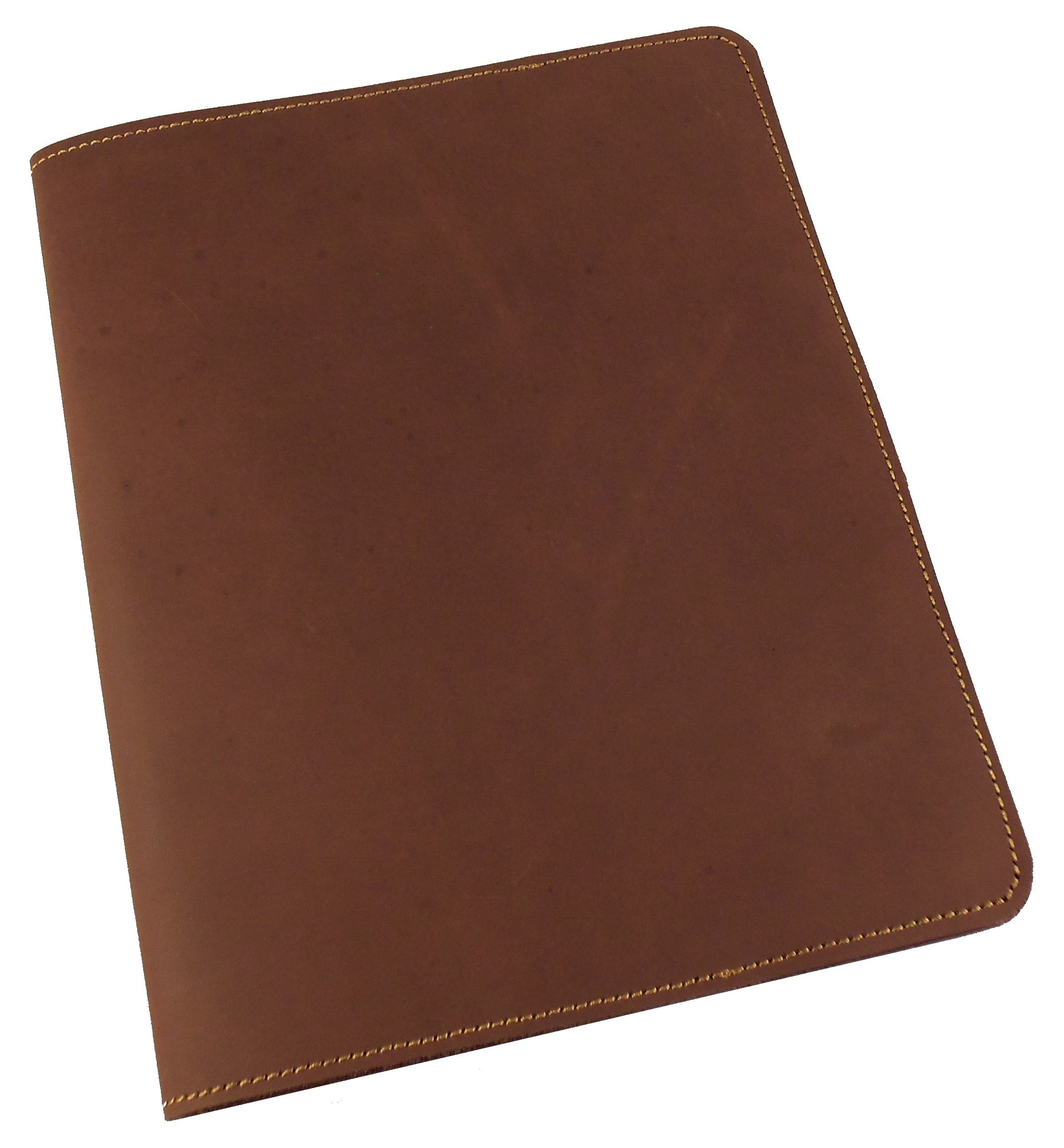 Refillable Leather Composition Notebook by Rustic Ridge - Leather Notebook Cover - Composition Book Cover (Dark Brown) by Rustic Ridge Leather