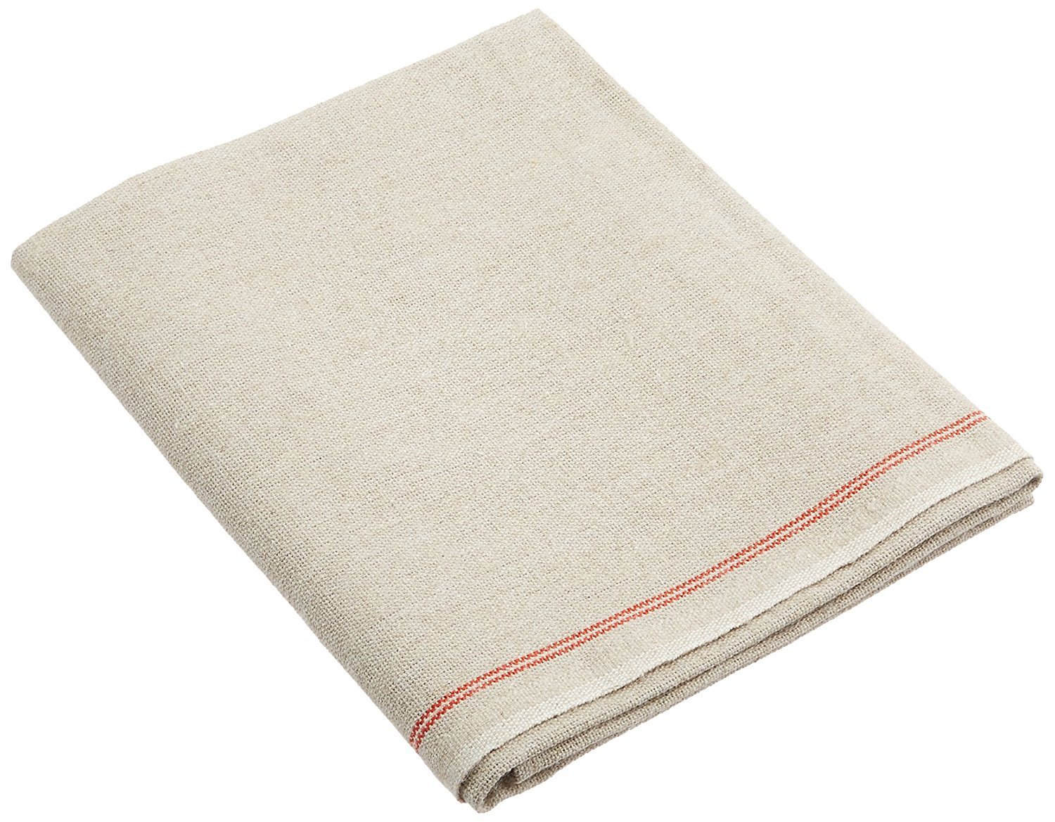BrotformDotCom Professional Bakers Couche - 100% Pure French Flax Linen Proofing Cloth 26 x 24 Inch, the Original Red Stripe Signature Couche JL-00501
