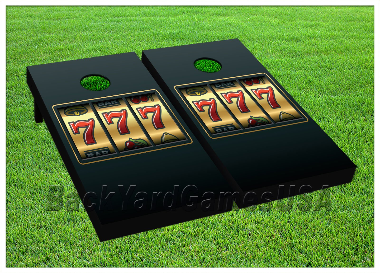 CORNHOLE BEANBAG TOSS GAME Lucky 7's Casino Slot Game w Bags Game Board Set 538 by BackYardGamesUSA