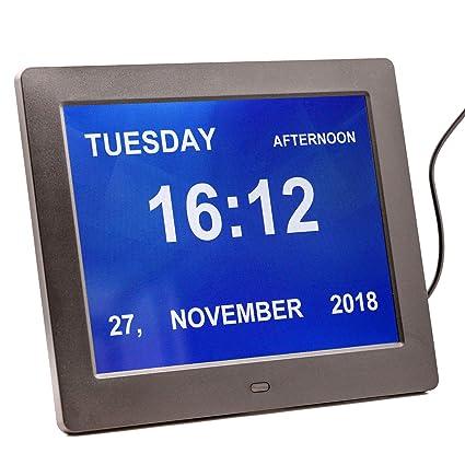 Calendario Digitale Per Anziani.Genchy Calendario Digitale Nuova Versione Clock Led Grandi