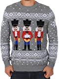 Tipsy Elves Men's Ugly Christmas Sweater - The Nut Cracker Funny Sweater Grey
