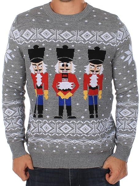 Mens Christmas Sweater.Tipsy Elves Men S Ugly Christmas Sweater The Nut Cracker Funny Sweater Grey