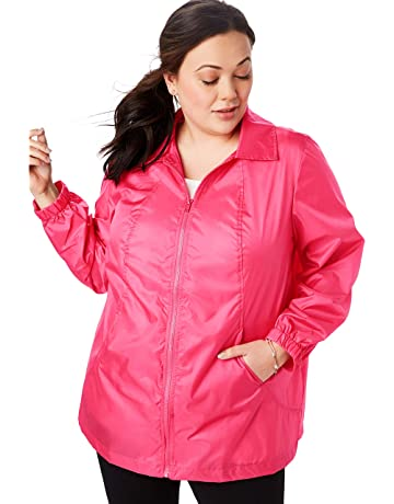 11870fcc496d Woman Within Women s Plus Size Zip Front Nylon Jacket