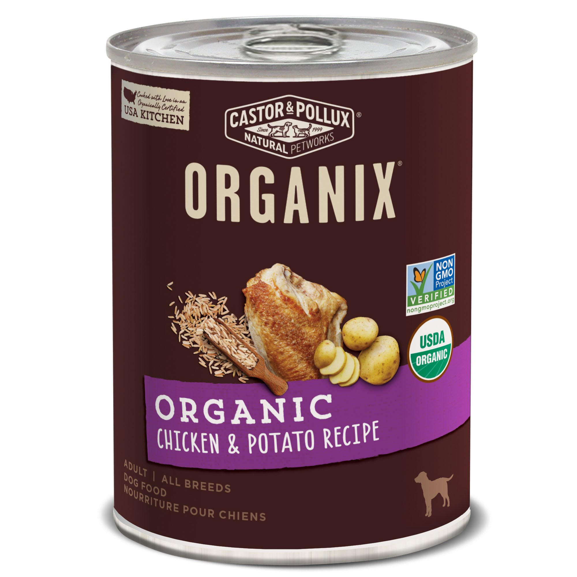 Castor & Pollux Organix Chicken and Potato Adult Dog Food, 12.7 Ounce Cans (Pack of 12) by organix