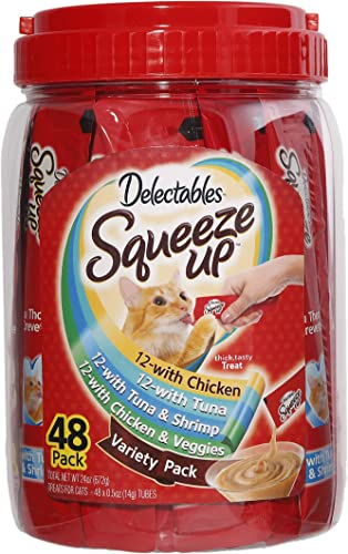 Delectables Squeeze Up Variety Pack Lickable Cat Treats