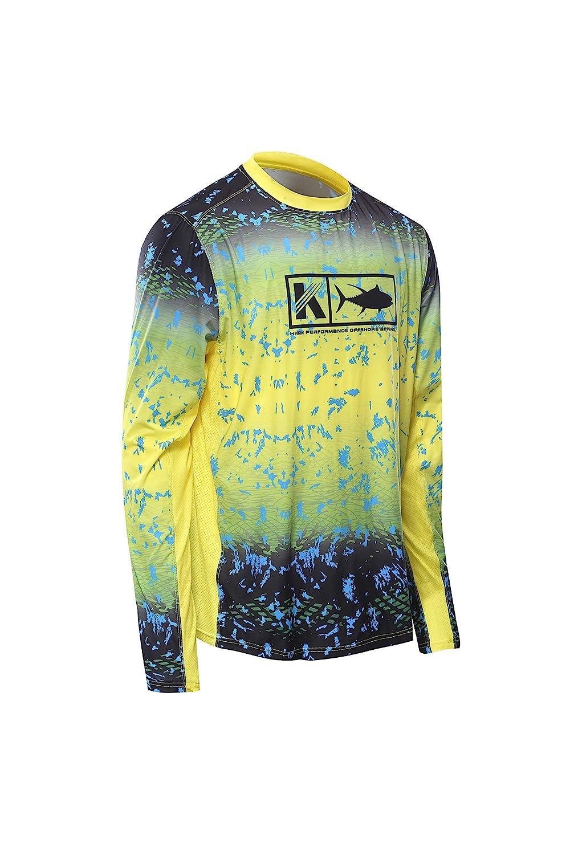 Performance Fishing Shirt Vented Long Sleeve Sunblock Sun Protection UPF50 Moisture Wicking Rash Guard Mesh Sides Loose Fit
