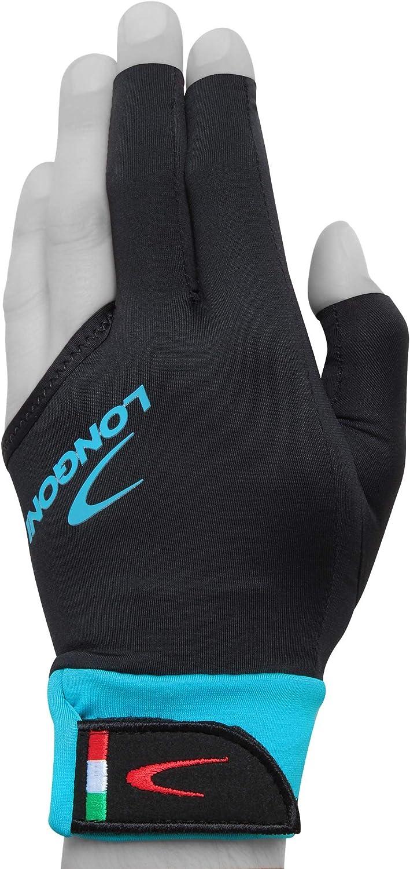 Longoni Sultan 2.0 Billiard Pool Cue Glove for Left or Right Hand Black
