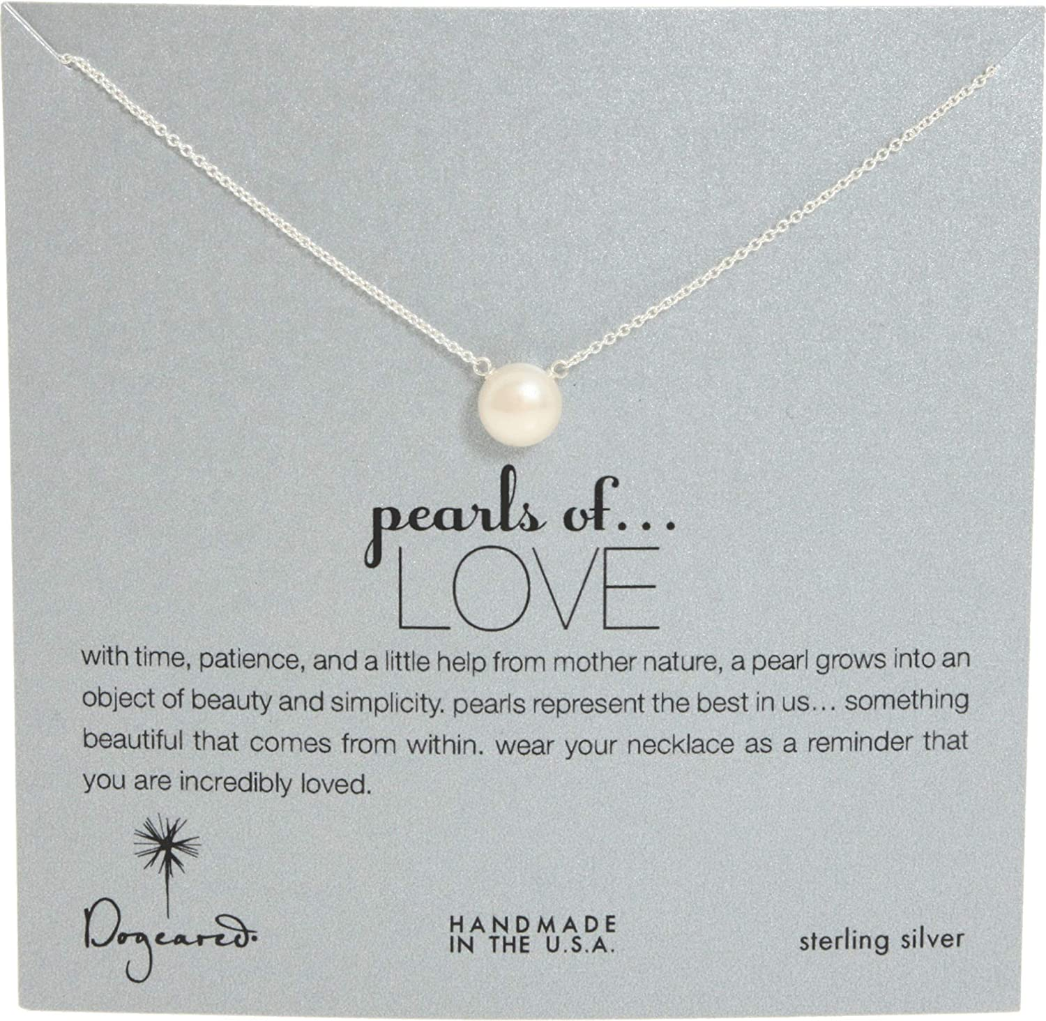 f26ccffcf9611 Dogeared Pearls of Love 8mm Freshwater Pearl Necklace, 18