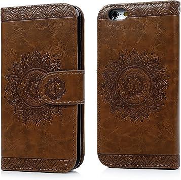 SUPWALL iPhone 6 Funda Libro Suave Carcasa Impresión Leather con Tapa, TPU Case Interna (2 en 1, Desmontable), Función de Soporte, Funda Billetera para Tarjetas y Billetes: Amazon.es: Electrónica