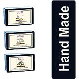 Khadi Mauri Herbal Charcoal Soap - Deep Skin Cleansing - Herbal & Handmade - Pack of 3, 125 g each