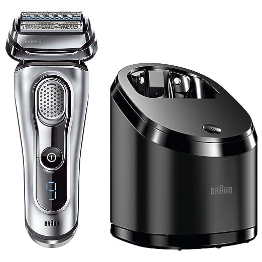 222 opinioni per Braun Serie 9 9090cc Rasoio elettrico a lamina, sistema Clean & Charge, Argento