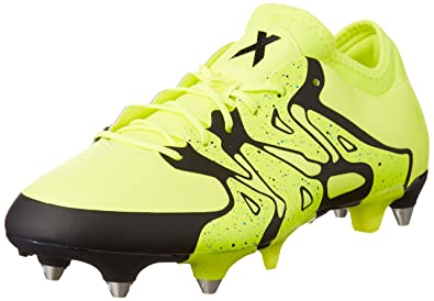 d4514ef8403e Adidas Men's's X 15.1 Soft Ground Football Boots Solar Yellow/Core Black),  ...