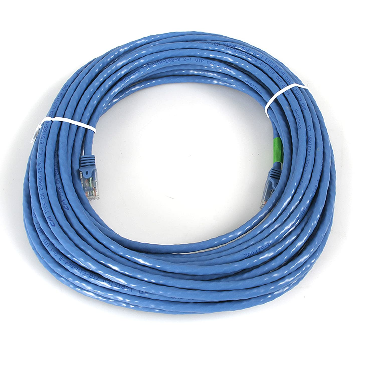 StarTech.com Cat6 Ethernet Cable - 50 ft - Blue - Patch Cable ...