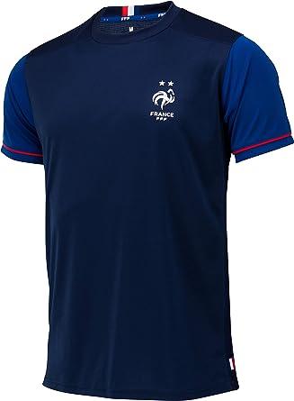 Camiseta de la selección francesa de fútbol FFF, 2 estrellas, colección oficial, talla para hombre: Amazon.es: Ropa y accesorios