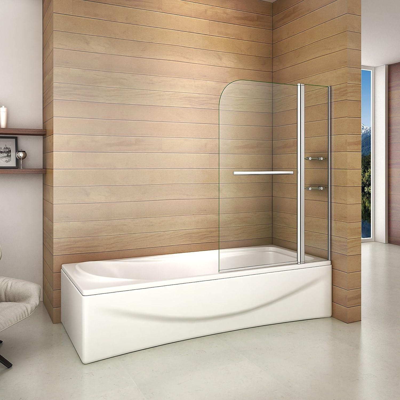 Aica Italy - Pared de bañera y cabina de ducha - Mampara con dos ...
