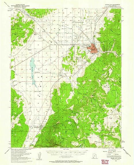 Amazon.com: YellowMaps Cedar City UT topo map, 1:62500 Scale, 15 X on