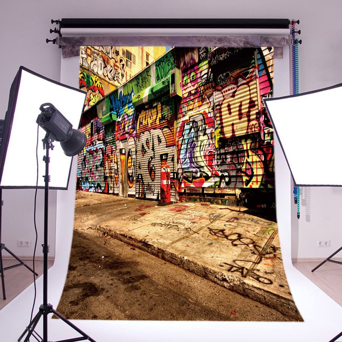 LB 5x7ft Street Graffiti Vinyl Photography Backdrop Customized Photo Background Studio Prop Wall Decor GY91