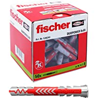 fischer DUOPOWER 8 x 65 universele pluggen voor het bevestigen van hangkasten, wandplanken in beton, metselwerk…