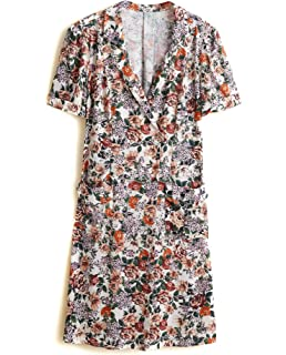Mango Damen Bow wickelkleid 31050685  Amazon.de  Bekleidung 4c3ab29ab7