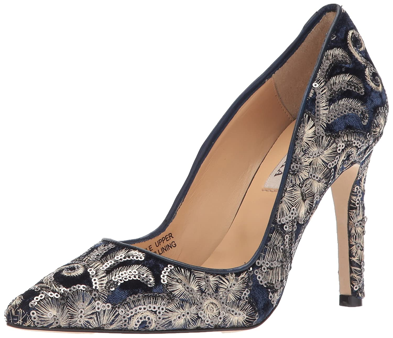 Badgley Mischka Women's Marilou Pump B073C2TWQL 7 B(M) US|Navy