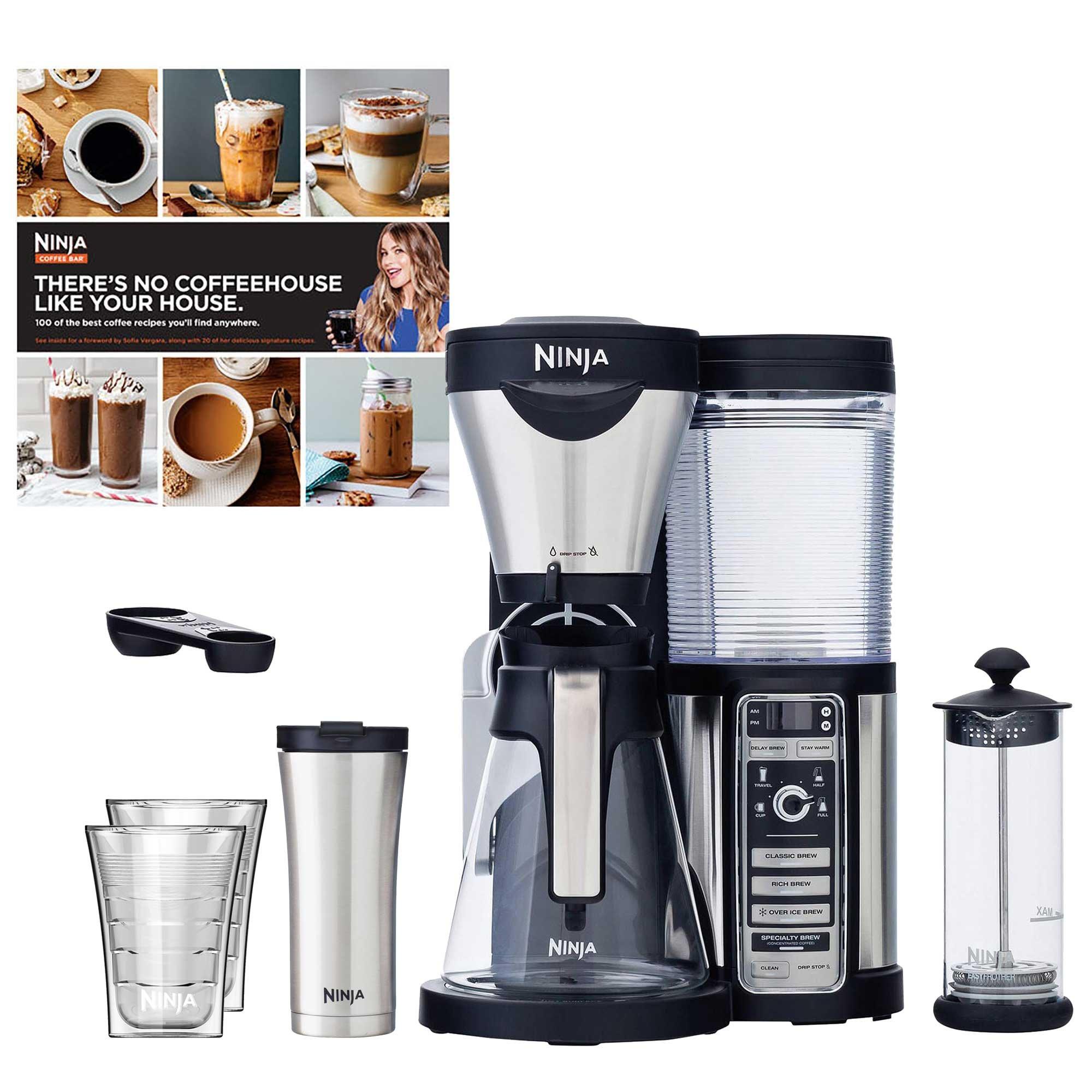 Ninja Coffee Bar + Recipes + Travel Mug + Insulated Cups (Certified Refurbished)