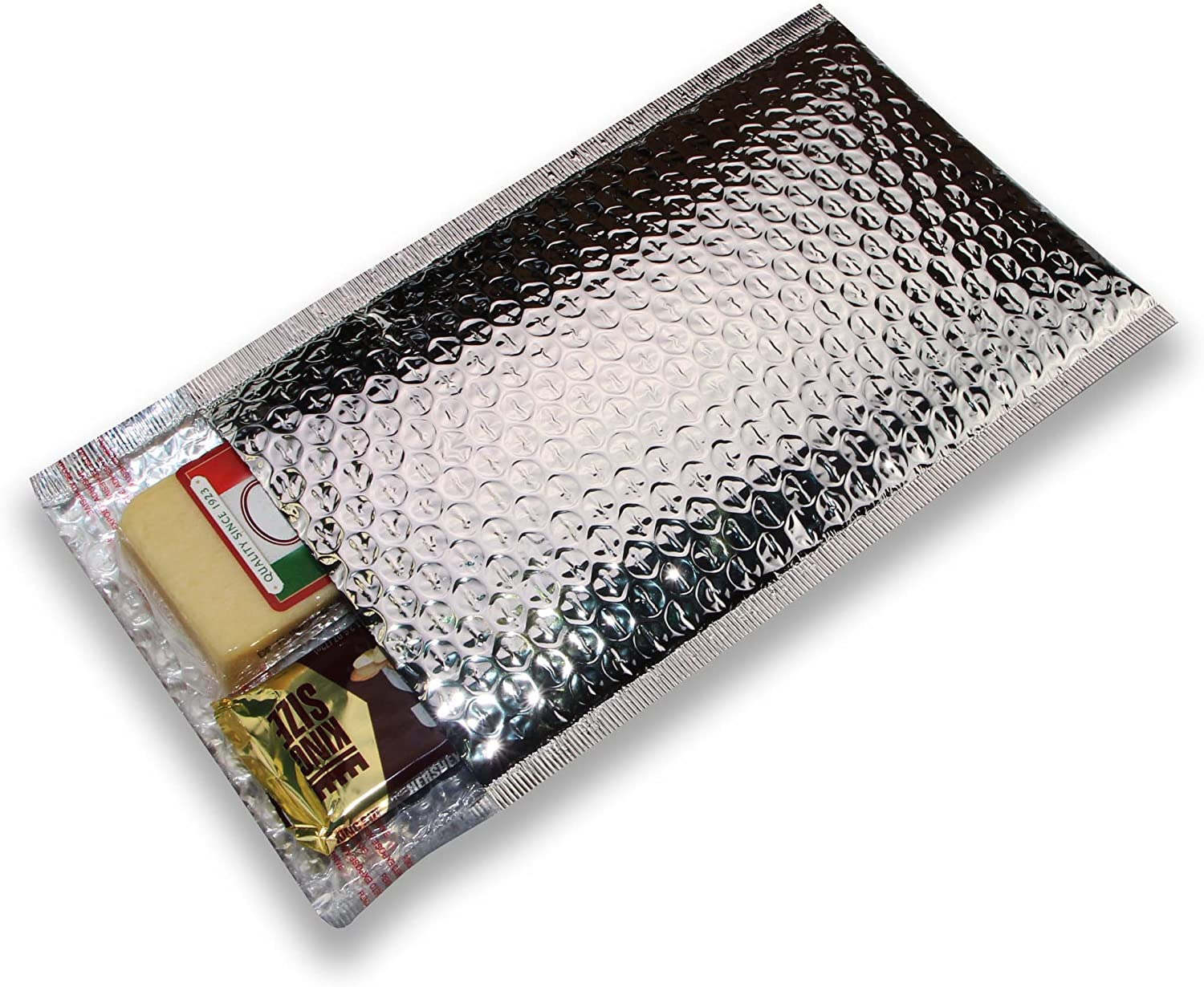 100 pcs 8x11 Metallic Glamour Cool Shield Thermal Bubble Mailers by ZebraPack