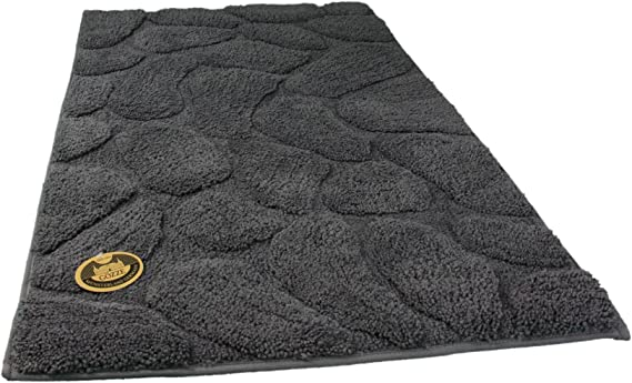 100/% Baumwolle Grau graugr/ün 60 x 100 cm 100/% Baumwolle Grund Badteppich