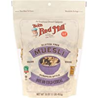 Bob's Red Mill Gluten Free Muesli Cereal, 16-ounce (Package May Vary)