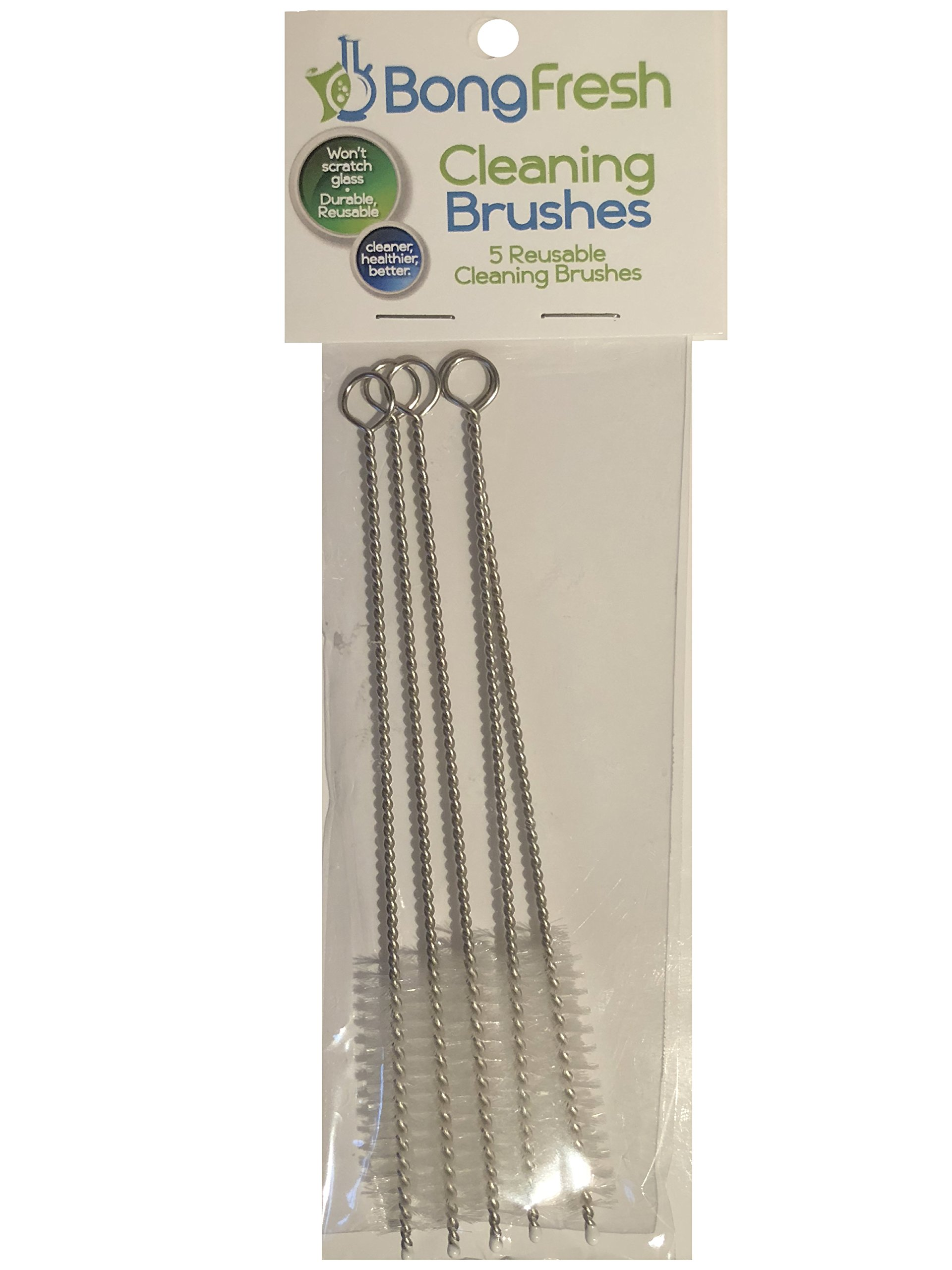 BongFresh - 5pk Reusable Cleaning Brushes™ (Bong Cleaner) Pipe Cleaners for down stems