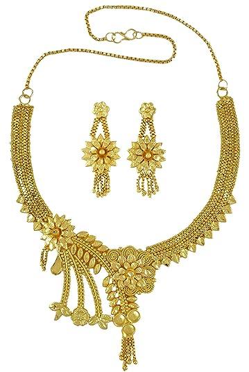 90b2d0ebb5d07 Banithani 18K Gold Plated Traditional Indian Designer Necklace Set ...