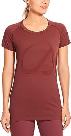 CRZ YOGA Women's Active Sports Tee Seamless Short Sleeve Performance T-Shirt
