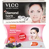 VLCC Diamond Facial Kit, 60g with Free Party Glow Facial Kit, 60g