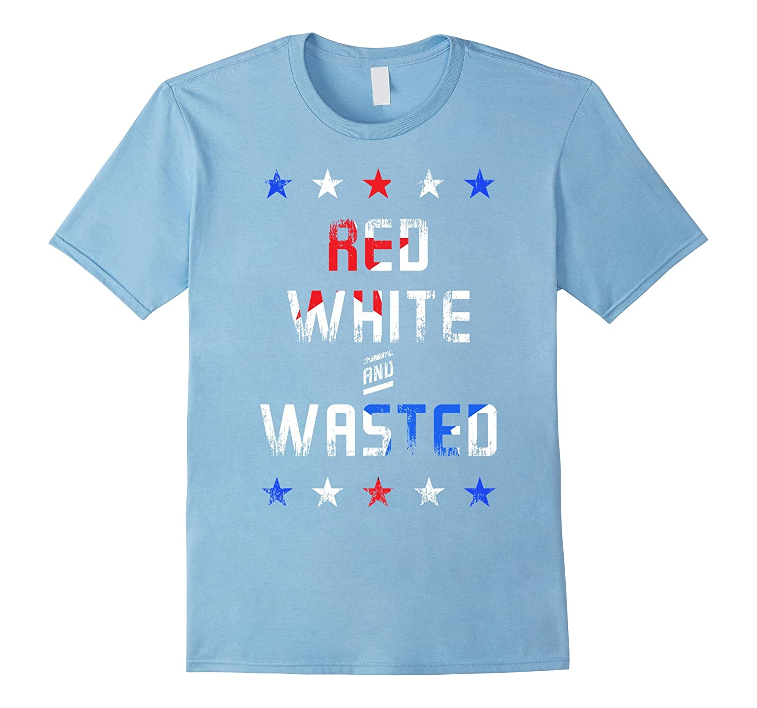 Red, White, and Wasted America beer shirt